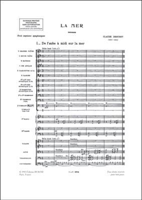Claude Debussy: La Mer - Partition D'Orchestre: Orchestra