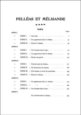 Claude Debussy: Pelleas Et Melisande - Partition D'Orchestre: Opera