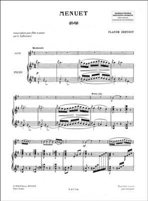 Claude Debussy: Menuet Flute-Piano (Petite Suite): Flute