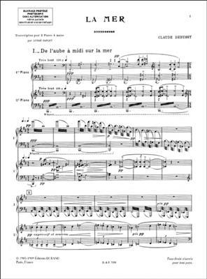Claude Debussy: La Mer - Pour Deux Pianos: Piano Ensemble