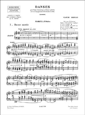 Claude Debussy: Danse Sacrée et Danse Profane: Harp