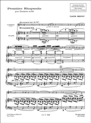 Claude Debussy: Premiere Rhapsodie: Clarinet