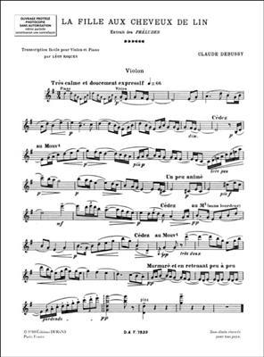 Claude Debussy: La Fille Aux Cheveux Lin: Violin