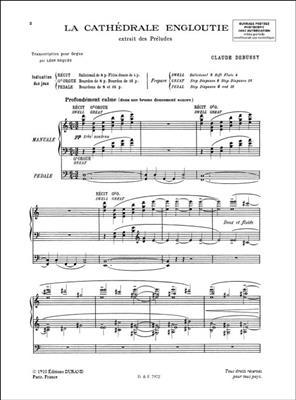 Claude Debussy: La Cathédrale Engloutie - Transcription Pour Orgue: Organ