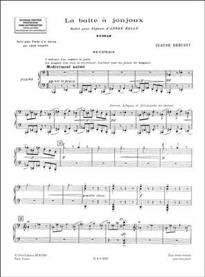 Claude Debussy: Boite A Joujoux - Ballet Pour Enfants: Piano Duet