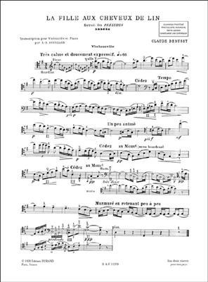 Claude Debussy: La Fille Aux Cheveux De Lin: Cello