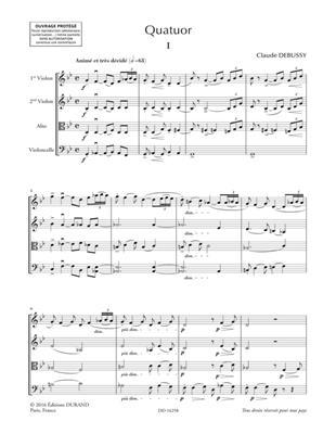 Claude Debussy: Quatuor pour deux violons, alto et violoncelle: String Quartet