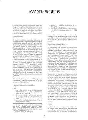 Claude Debussy: Préludes, Livre I (avec notes critiques): Piano