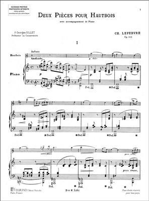 2 Pieces Op 102 Htb-Piano