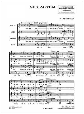 Alfred Desenclos: Nos Autem Choeurs: Mixed Choir
