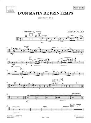 Lili Boulanger: D'Un Matin De Printemps: String Trio