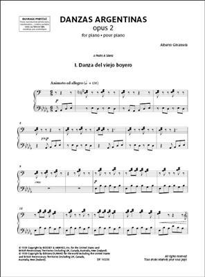 Alberto Ginastera: Danzas argentinas: Piano or Keyboard