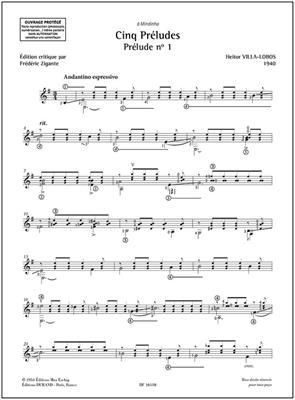 Heitor Villa-Lobos: Cinq Préludes : Guitar