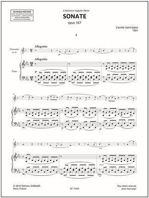 Camille Saint-Saëns: Sonate Opus 167: Clarinet & Piano