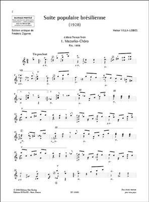 Heitor Villa-Lobos: Suite populaire brésilienne: Guitar