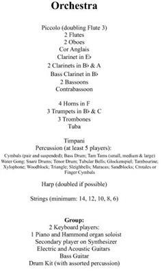 Jon Lord: Sarabande: Orchestra