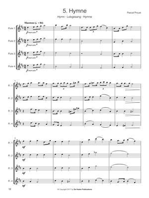 Pascal Proust: 14 Intermediate Flute Quartets: Flute Ensemble