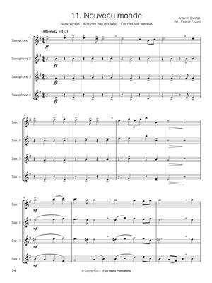 Pascal Proust: 14 Intermediate Saxophone Quartets: Saxophone Ensemble