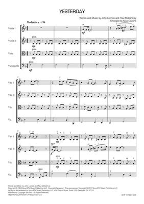 John Lennon: Yesterday: Arr. (Nico Dezaire): String Quartet