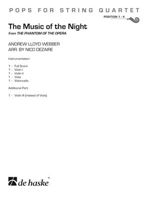 Andrew Lloyd Webber: The Music of the Night: Arr. (Nico Dezaire): String Quartet