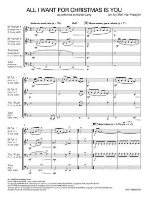 All I Want for Christmas is You: Arr. (Bert van Haagen): Brass Ensemble