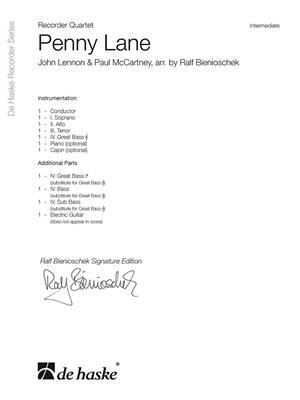 John Lennon: Penny Lane: Arr. (Ralf Bienioschek): Recorder Ensemble