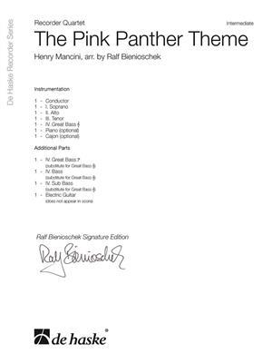Henry Mancini: The Pink Panther Theme: Arr. (Ralf Bienioschek): Recorder Ensemble