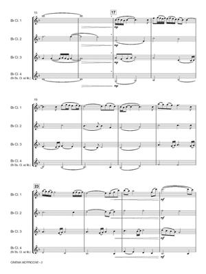 Ennio Morricone: Cinema Morricone: Arr. (Robert van Beringen): Clarinet Ensemble