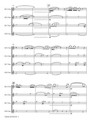 Ennio Morricone: Cinema Morricone: Arr. (Robert van Beringen): Saxophone Ensemble