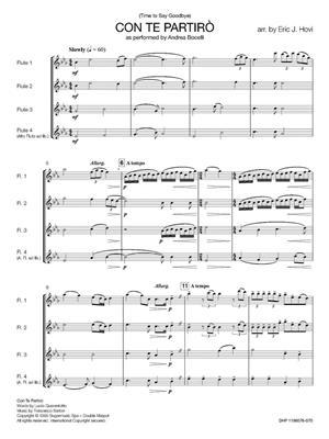 Andrea Bocelli: Con Te Partirò (Time to Say Goodbye): Arr. (Eric J. Hovi): Flute Ensemble