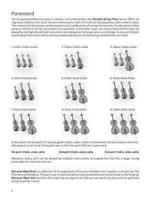 Discover West End: Arr. (Nico Dezaire): String Trio