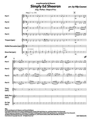 Ed Sheeran: Simply Ed Sheeran: Arr. (Filip Ceunen): Wind Ensemble
