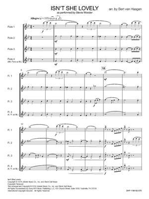 Stevie Wonder: Isn't She Lovely: Arr. (Bert van Haagen): Flute Ensemble