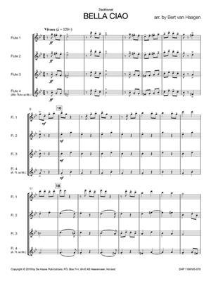 Bella Ciao: Arr. (Bert van Haagen): Flute Quartet