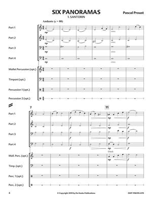 Pascal Proust: Six Panoramas: Wind Ensemble