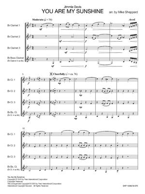 Jimmie Davis: You Are My Sunshine: Arr. (Mike Sheppard): Clarinet Ensemble