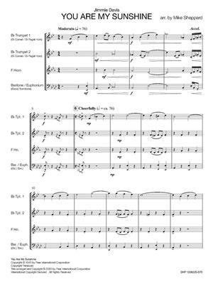 Jimmie Davis: You Are My Sunshine: Arr. (Mike Sheppard): Brass Ensemble