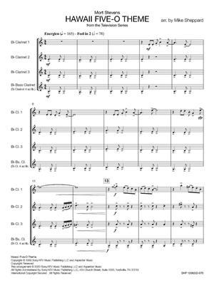 Hawaii Five-O Theme: Arr. (Mike Sheppard): Clarinet Ensemble