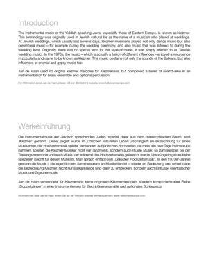 Jan de  Haan: Klezmeriana: Brass Ensemble