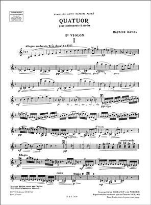 Maurice Ravel: Quatuor: String Quartet