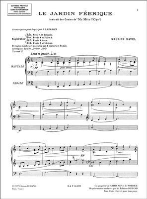 Maurice Ravel: 6 Pieces Orgue : Organ