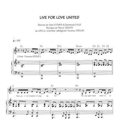 Live For Love United: C Clef Instrument