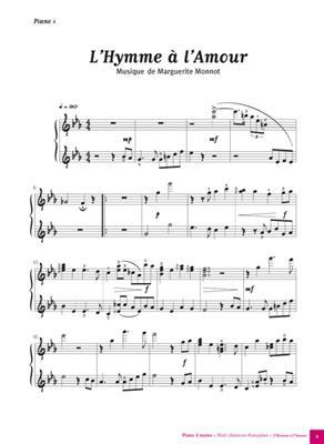 Piano 4 mains, 8 Chansons Françaises: Piano Duet