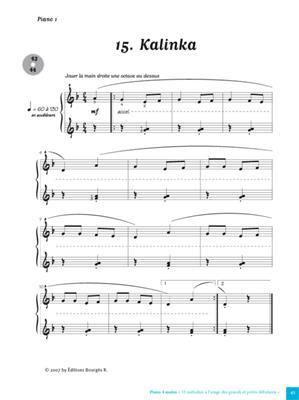33 Melodies a L'Usage Des Petits Et Grands: Piano Duet