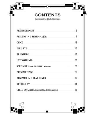 Chilly Gonzales: Chilly Gonzales: NoteBook Solo Piano III: Piano or Keyboard