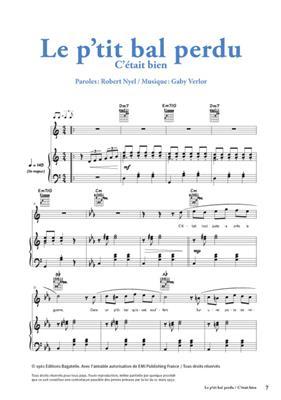 Gaby Verlor: Le P'Tit Bal Perdu - C'Etait Bien: C Clef Instrument