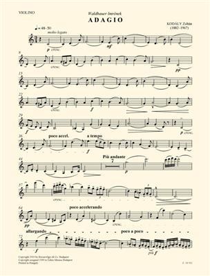 Zoltán Kodály: Adagio For Violin And Piano: Violin
