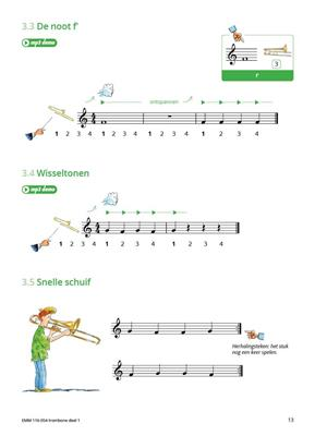 Samen Leren Samenspelen Trombone Vioolsleutel 1: Trombone