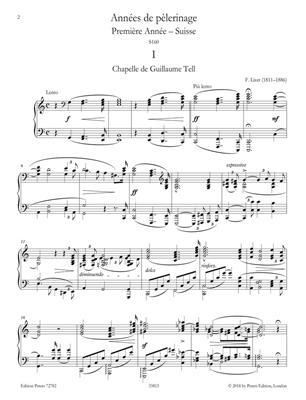 Franz Liszt: Années de pèlerinage: Piano