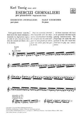 Carl Tausig: Esercizi Giornalieri: Piano